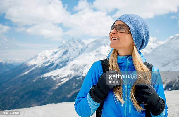 Woman enjoying the winter