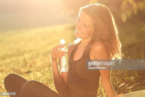 Woman enjoying time in park