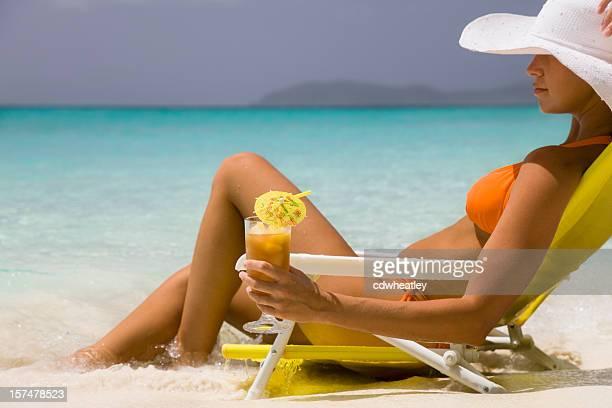 Frau Genießen Sie Urlaub