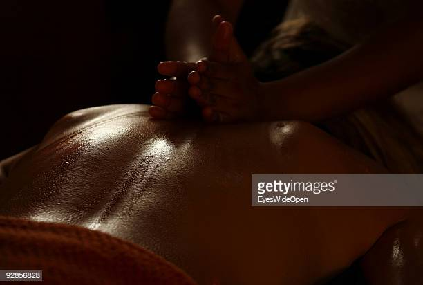 Woman enjoys a Ayurveda health treatment in the luxurious ShangriLa's Villingili Resort and Spa Hotel on September 27 2009 in Male MaldivesThe...
