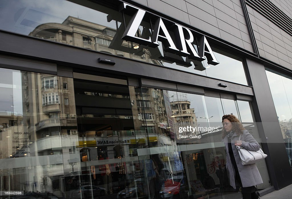 A woman enters a Zara clothing store on March 8, 2013 in Bucharest, Romania. Both Romania and Bulgaria have been members of the European Union since 2007 and restrictions on their citizens' right to work within the EU are scheduled to end by the conclusion of this year. However, Germany's interior minister announced recently that he would veto the two countries' entry into the Schengen Agreement, which would not affect labour rights but would prevent passport-free travel.