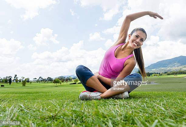 Woman exercising outdoors