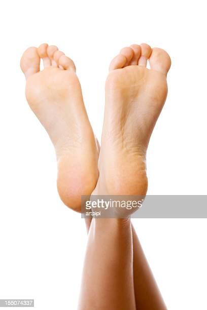 Femme pieds carrés