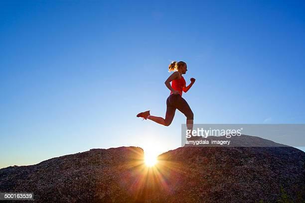 woman fitness sunshine nature