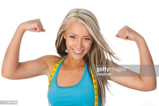 woman flexing