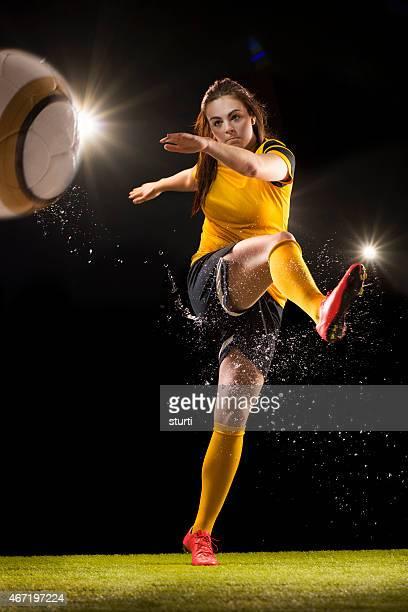 Mujer footballer