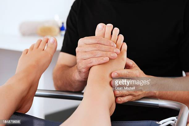 Woman Getting a Foot Massage