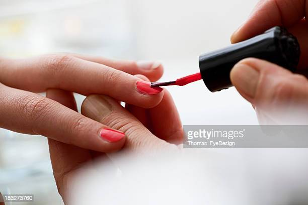 Woman Getting a Manicure