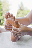 Woman getting foot massage