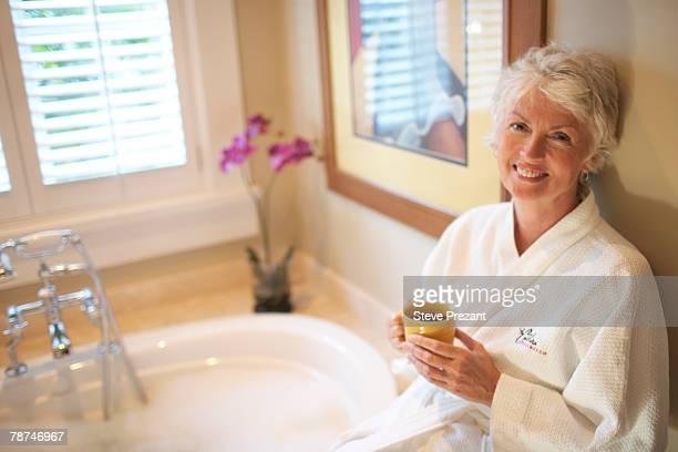 Woman Getting Ready for a Bath