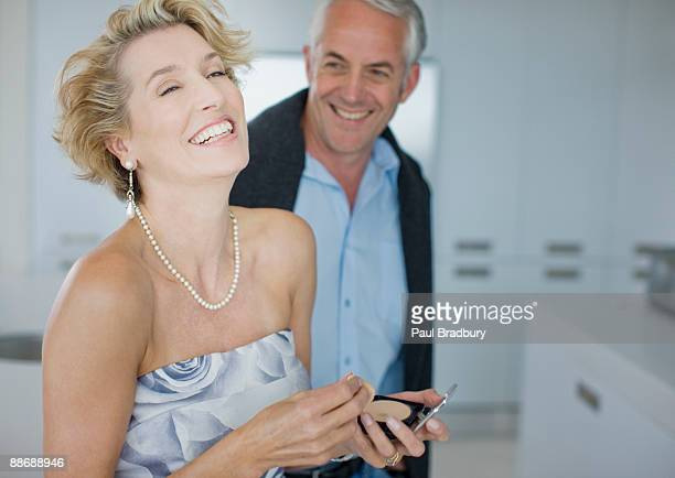 Woman getting ready for evening out