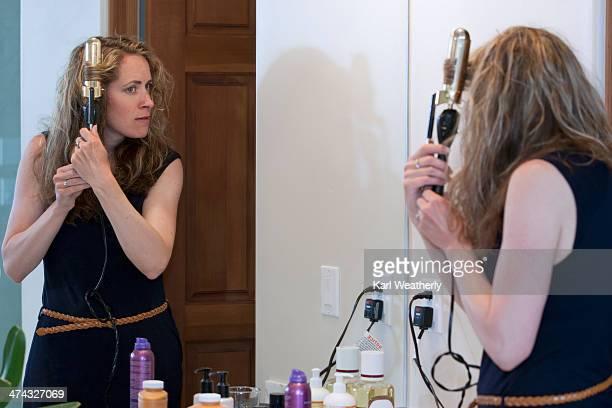 Woman getting ready