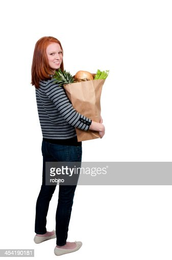 Donna Shopping dispensa : Foto stock