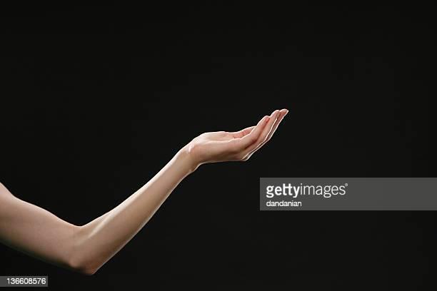 Femme mains et des bras