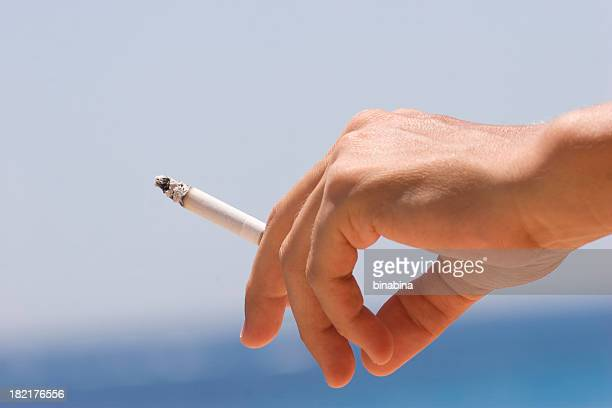 woman hand smoking