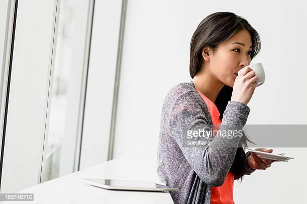 Woman having a break