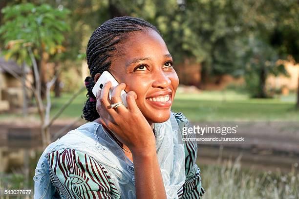 A woman having a call