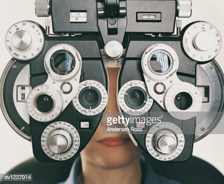 Woman Having an Eye Test : Stock Photo