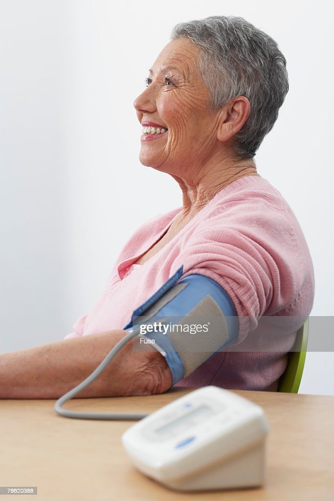 Woman Having Blood Pressure Test