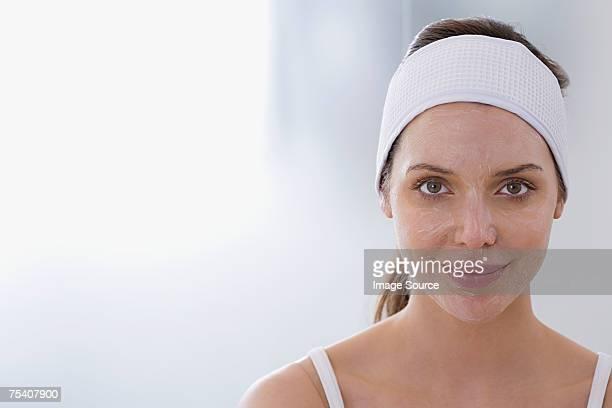 Woman having chemical peel
