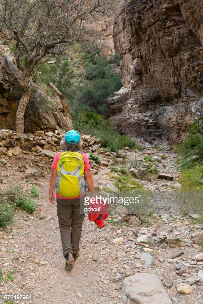 Woman hiking in Big Bend National Park, Texas, USA