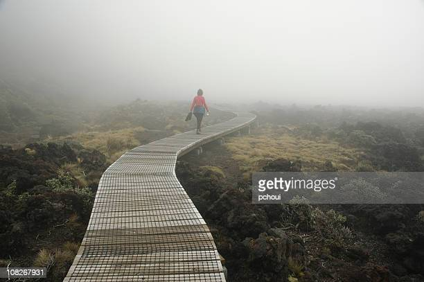 Woman Hiking in NZ, New Zealand.