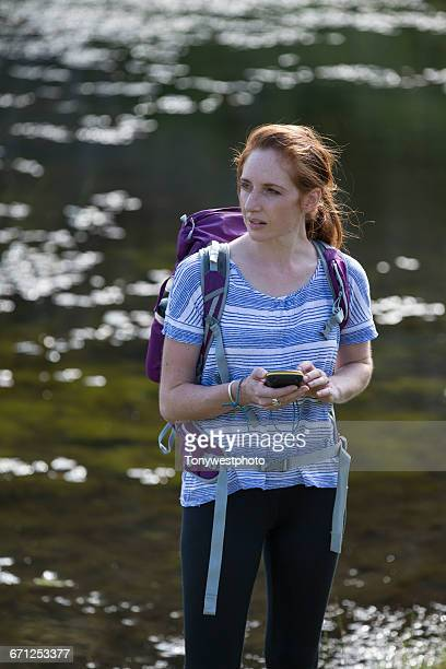 Woman hiking in the English Lake Disrtrict