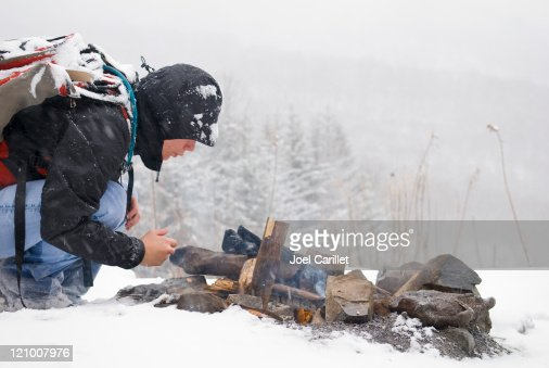 Starting a Fire in Snow