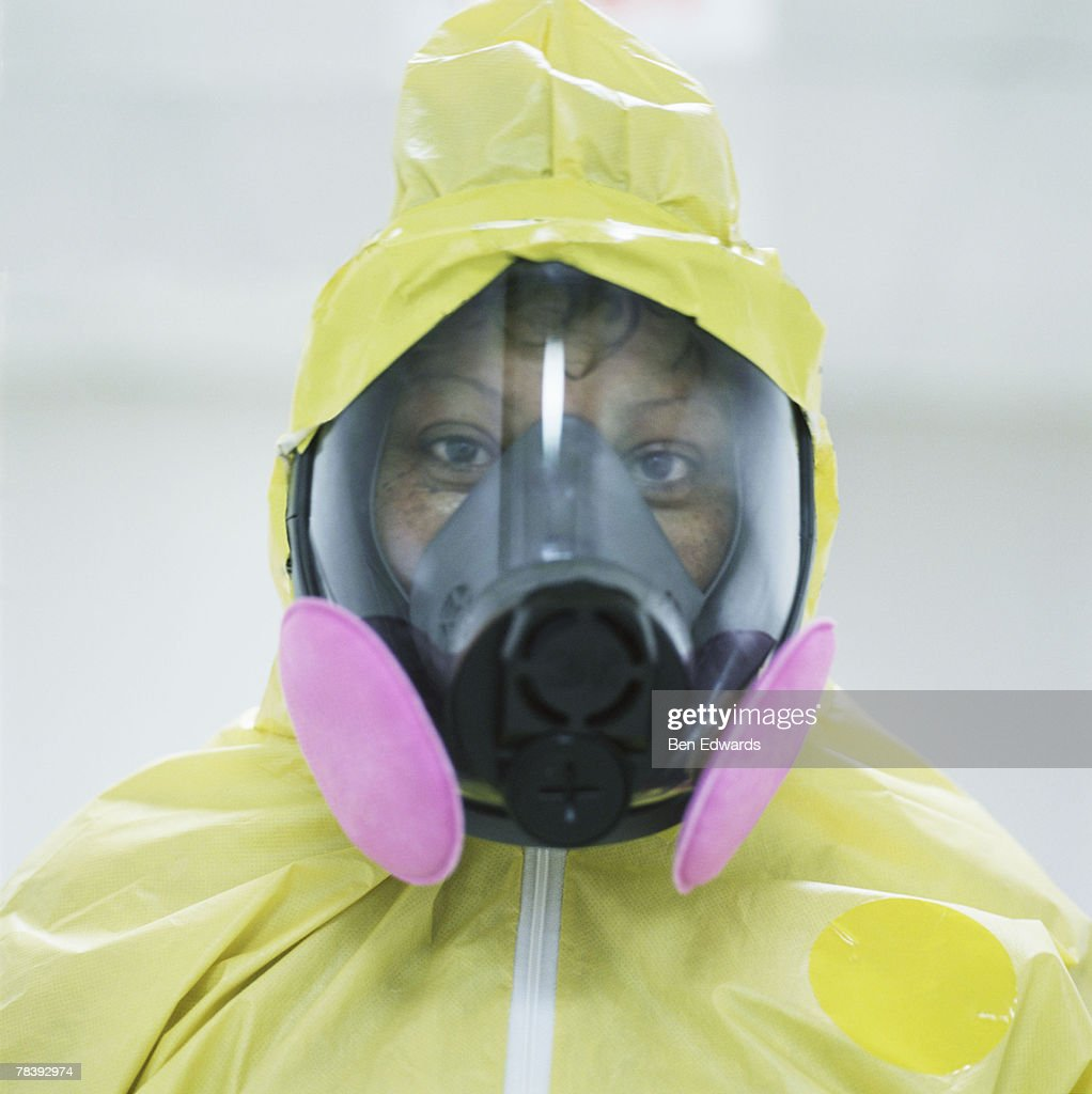 Woman in a clean suit