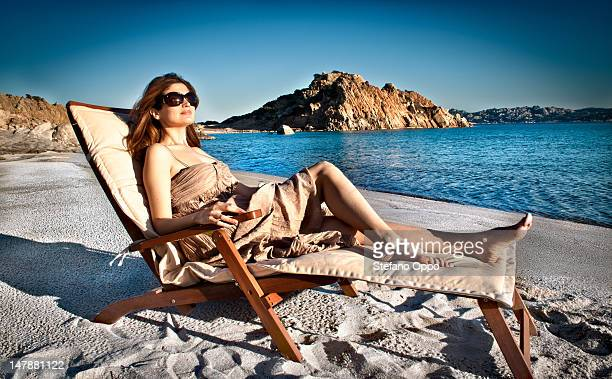 woman in a deck chair