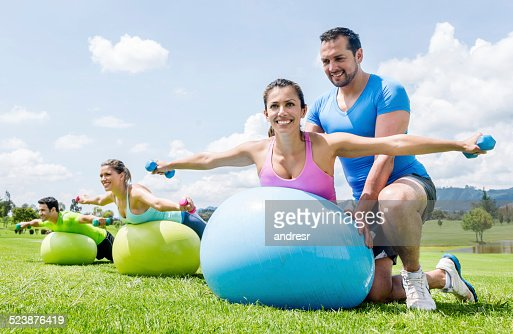 Woman in a fitness class