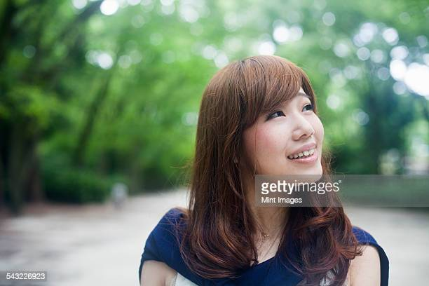 A woman in a Kyoto park.