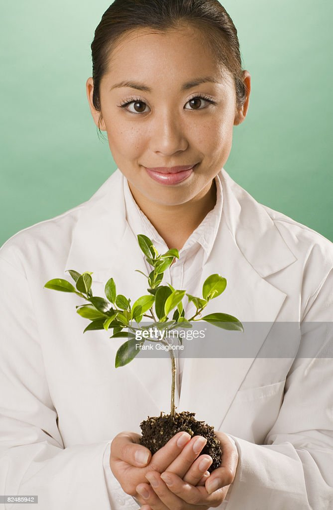 Woman in a Lab Coat  : Stock Photo