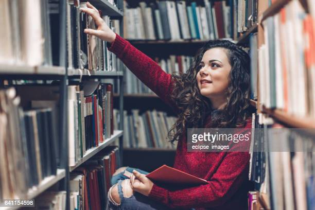 Woman in a Library