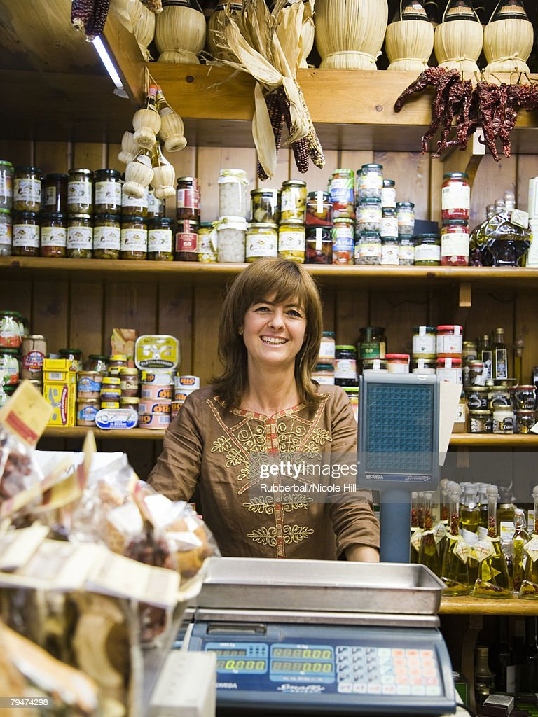 Woman in a market : Stock Photo