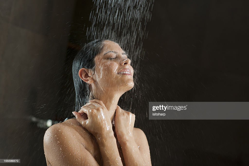 Woman in a shower : Stock Photo