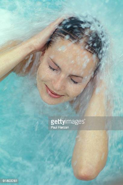 Woman in a therapy pool