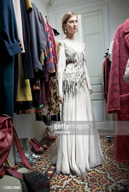 Woman in a vintage shop