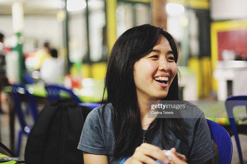 Woman in a 'warung'