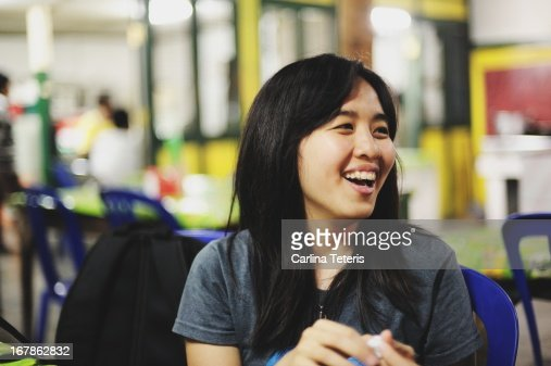 Woman in a 'warung' : Stock Photo
