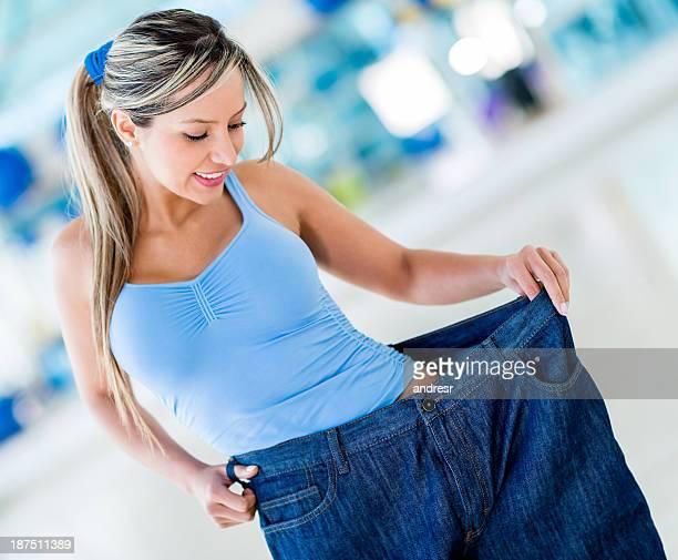 Woman in baggy pants