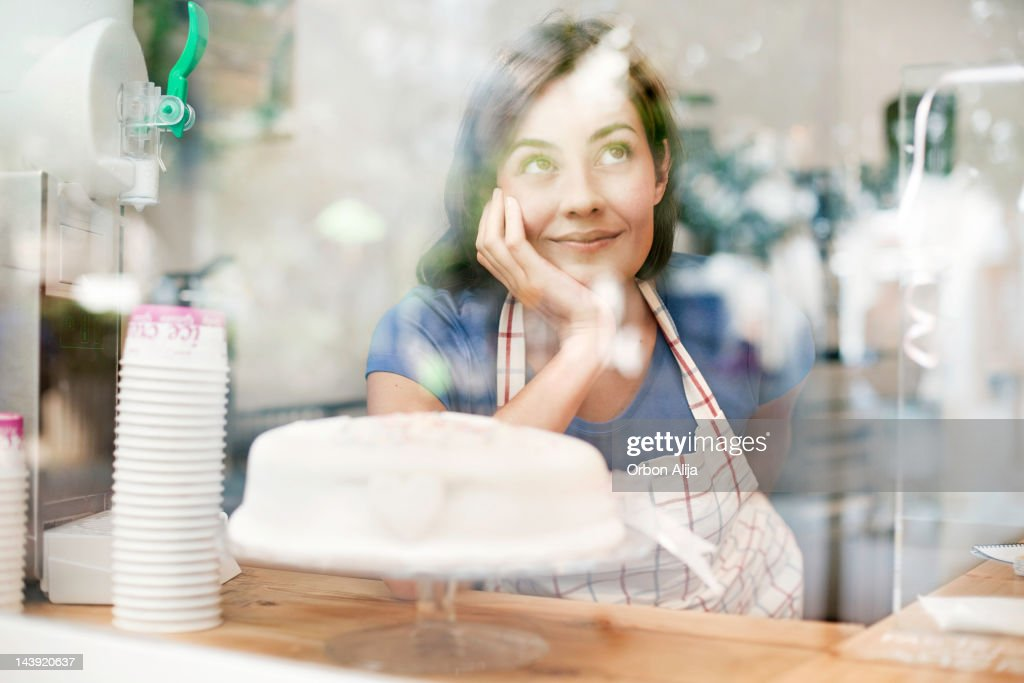 Woman in bakery : Stock Photo