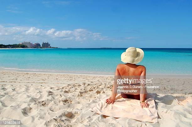 Woman in beach