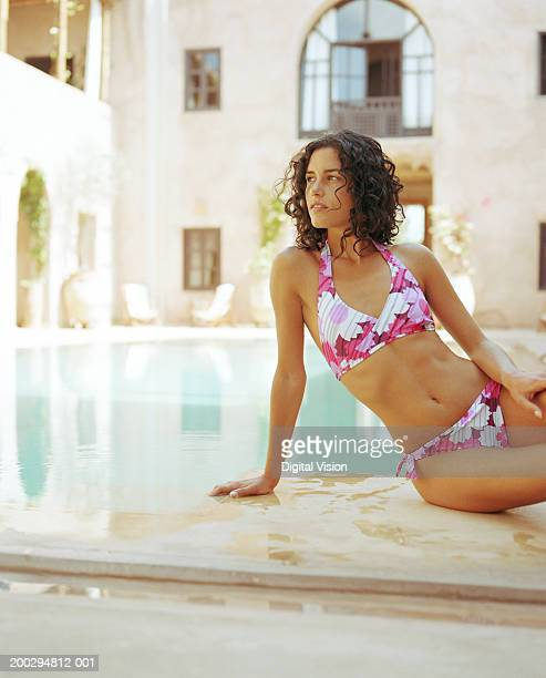 Floral Pattern Bikini Stock Photos and Pictures