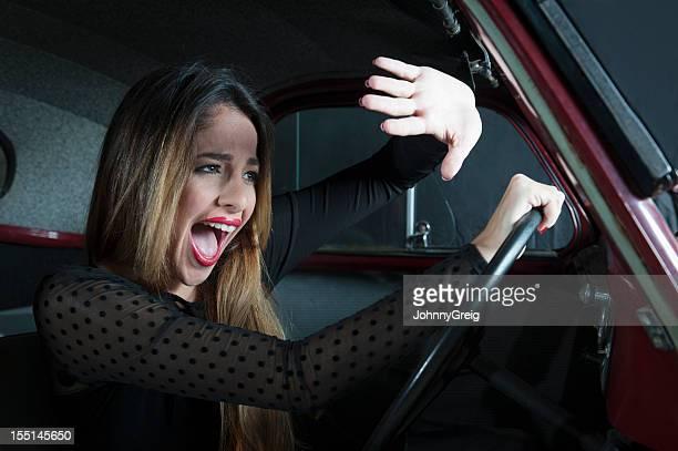 Woman in Car Crash