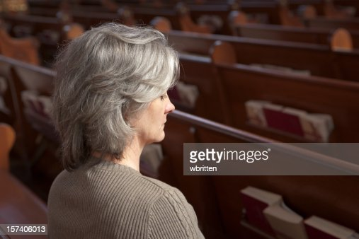 Woman in Church (XXL)