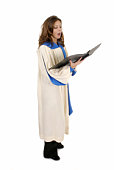 Woman In Church Robe Singing 4