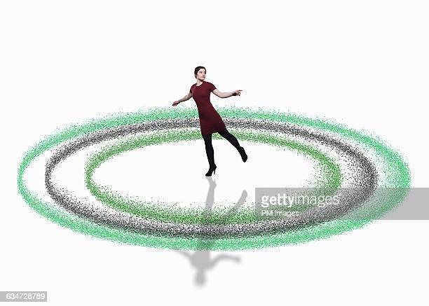 Woman in CGI circles