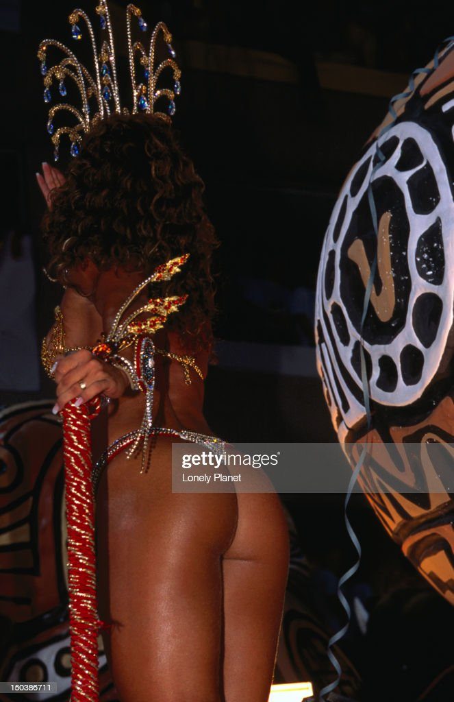Woman in costume for Carnival Parade at Sambodromo, Centro. : Stock Photo