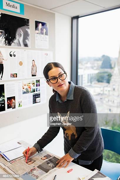 Woman in creative workspace